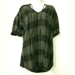 Zara Basic plaid shirt dress Gray